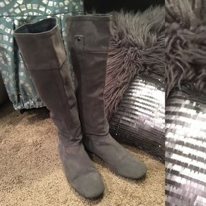 MANGO suede leather tall women boots